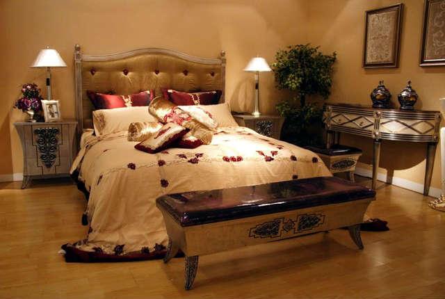 приятная атмосфера в спальне